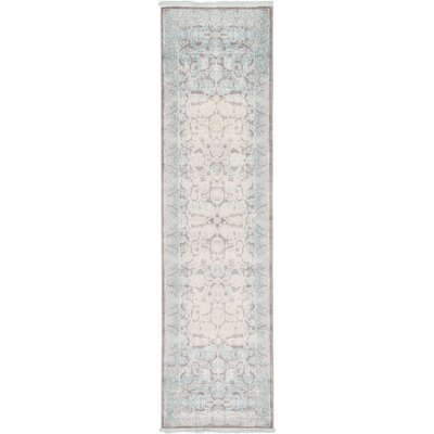 Patenaude Light Gray Oriental Area Rug Rug Size: Runner 27 x 10