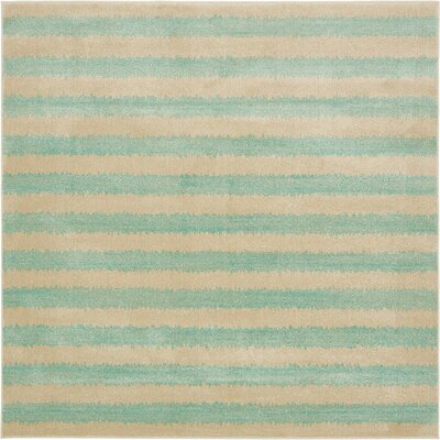 Randeep Green/Beige Area Rug Rug Size: Square 8'