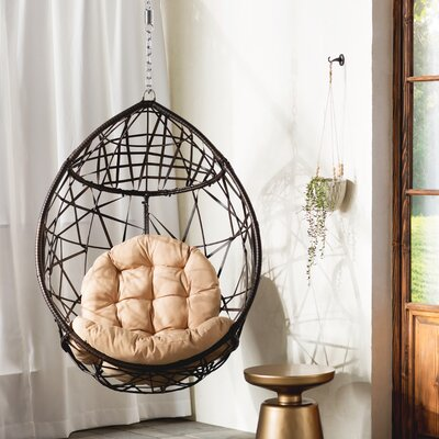 Auxerre Tear Drop PVC Swing Chair with Stand