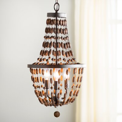 Faun 4-Light Candle-Style Metal Chandelier
