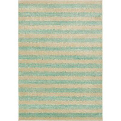 Randeep Green/Beige Area Rug Rug Size: 7' x 10'
