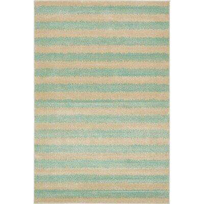 Randeep Green/Beige Area Rug Rug Size: 6' x 9'