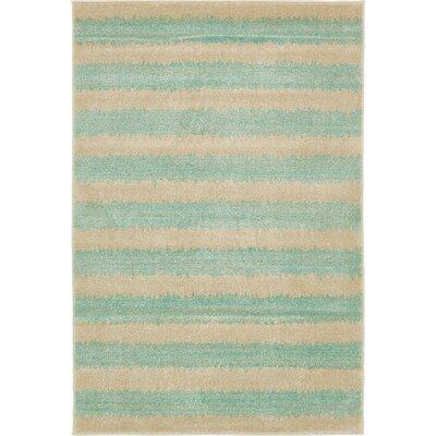 Randeep Green/Beige Area Rug Rug Size: 4' x 6'