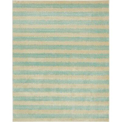 Randeep Green/Beige Area Rug Rug Size: 8 x 10