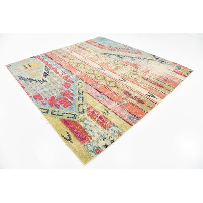 Rohini Light Blue Area Rug Rug Size: Square 8'