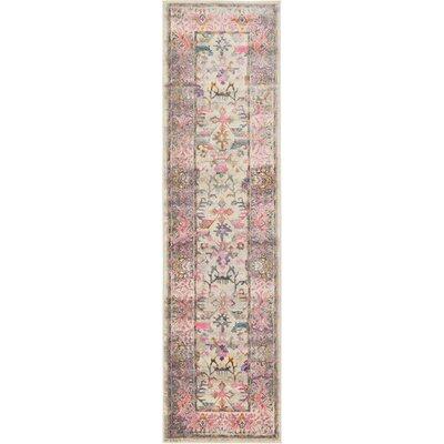 Charlena Pink Area Rug Rug Size: Runner 27 x 10