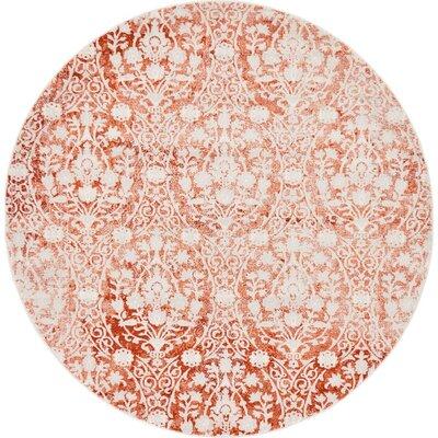 Patenaude Terracotta Area Rug Rug Size: Round 6