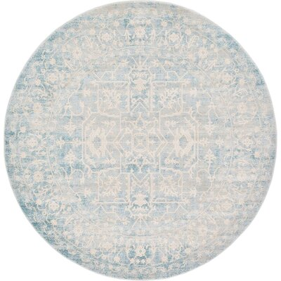 Bryant Oriental Light Blue Area Rug Rug Size: Rectangle 33 x 53