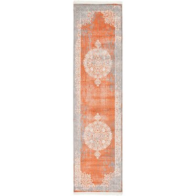 Colebrook Orange Area Rug Rug Size: Runner 27 x 10