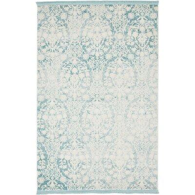 Patenaude Light Blue Area Rug Rug Size: Rectangle 4 x 6