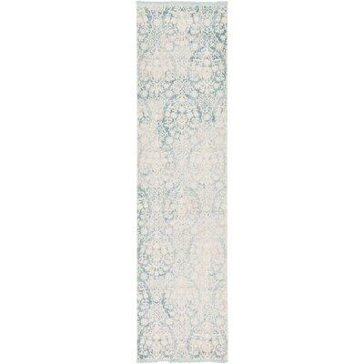 Patenaude Light Blue Area Rug Rug Size: Runner 27 x 10