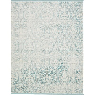 Patenaude Light Blue Area Rug Rug Size: Rectangle 8 x 10