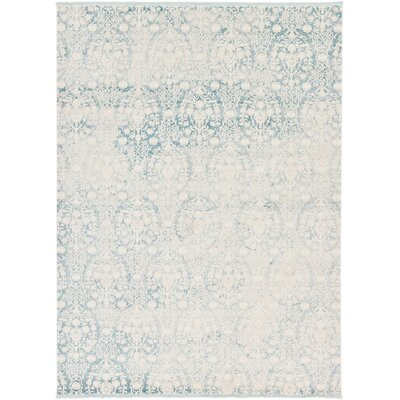 Patenaude Light Blue Area Rug Rug Size: 9 x 12