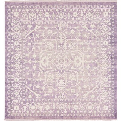 Bryant Purple Area Rug Rug Size: Square 8