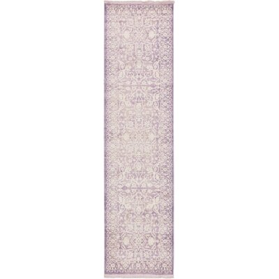 Wilton Purple Area Rug Rug Size: Runner 27 x 10