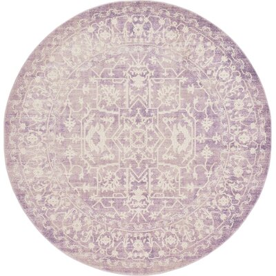 Bryant Purple Area Rug Rug Size: Round 6