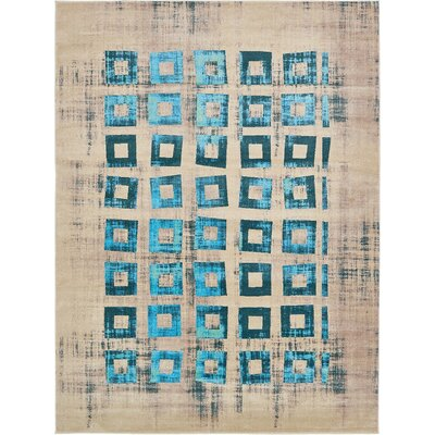 Annisville Teal Area Rug Rug Size: 9' x 12'