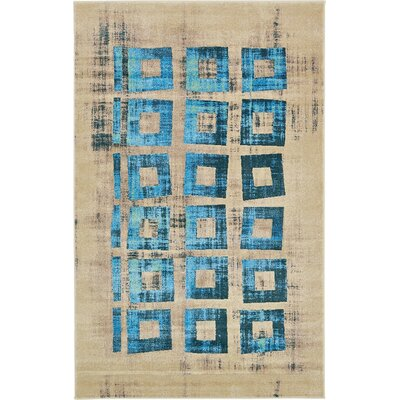 Annisville Teal Area Rug Rug Size: 5' x 8'