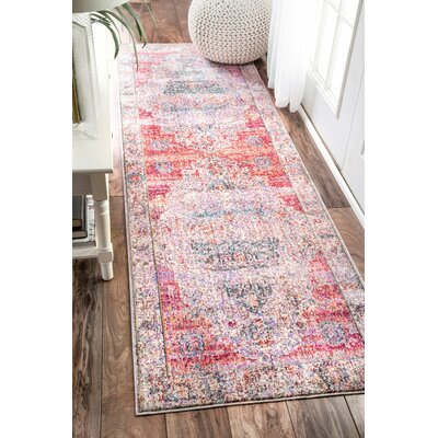 Chayne Blush Area Rug Rug Size: Runner 26 x 8