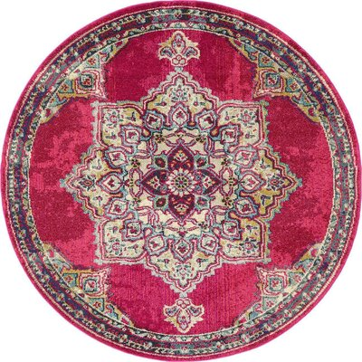 Charleena Pink Area Rug Rug Size: Rectangle 9 x 12