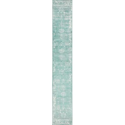 Ford Turquoise / White Area Rug Rug Size: Runner 2 x 13