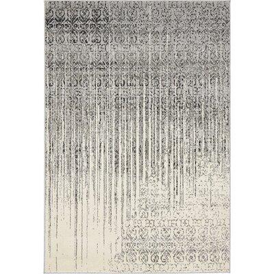 Deniece Gray Area Rug Rug Size: 4 x 6