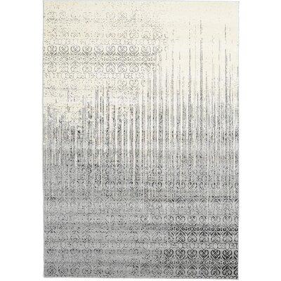 Deniece Gray Area Rug Rug Size: 7 x 10