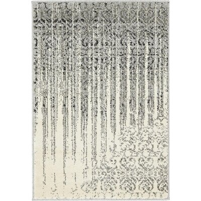 Deniece Gray Area Rug Rug Size: 2 x 3