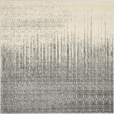 Deniece Gray Area Rug Rug Size: Square 6