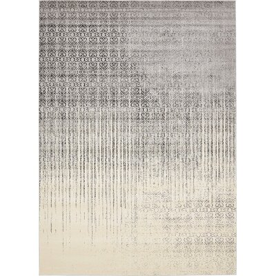 Deniece Gray Area Rug Rug Size: Rectangle 10 x 14