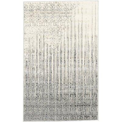 Deniece Gray Area Rug Rug Size: 33 x 53