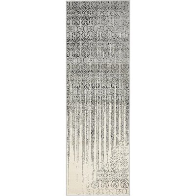 Deniece Gray Area Rug Rug Size: Runner 2 x 6
