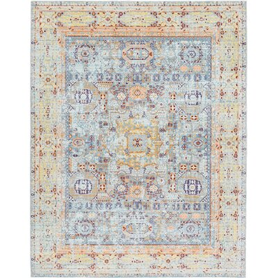 Bradford Light Blue Area Rug Rug Size: Square 8