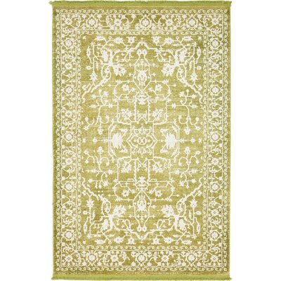 Twila Light Green Area Rug Rug Size: 4 x 6