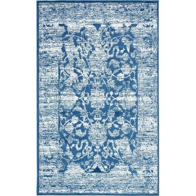 Brent Blue Area Rug Rug Size: 5 x 8