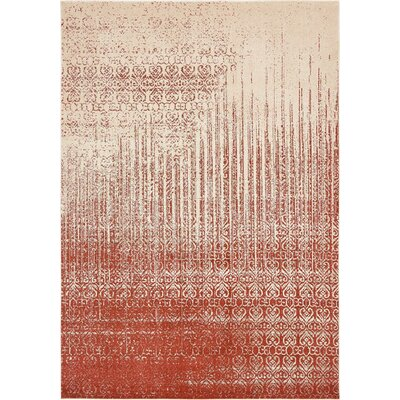 Raphael Red Area Rug Rug Size: 6 x 9