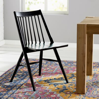 Massey Solid Wood Dining Chair Finish: Black