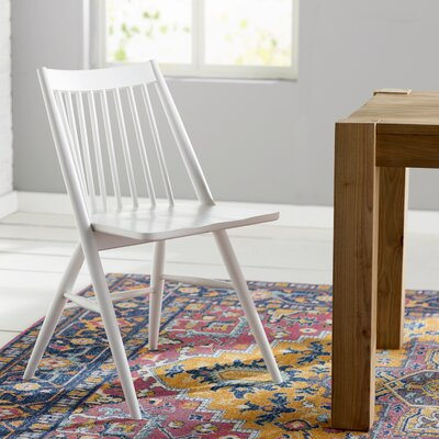 Massey Solid Wood Dining Chair Finish: White