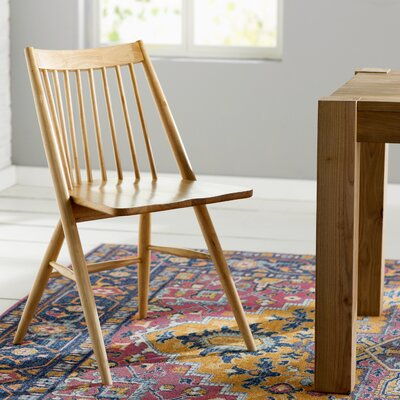 Massey Solid Wood Dining Chair Finish: Natural