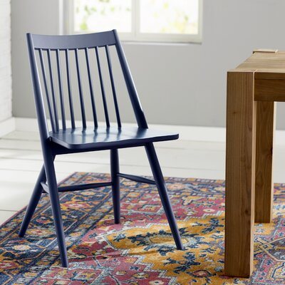 Massey Solid Wood Dining Chair Finish: Navy