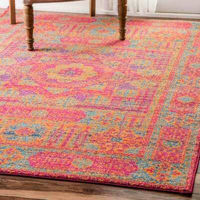 Paloma Orange Area Rug