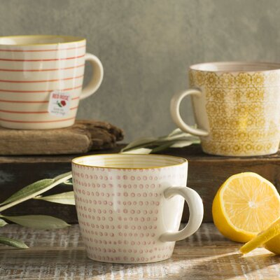 Tadi 3 Piece Ceramic Mugs Set