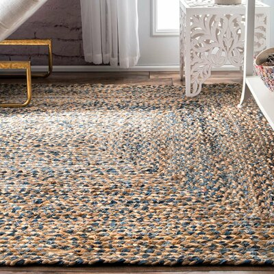 Destrie Hand-Braided Blue Area Rug Rug Size: Rectangle 8 6 x 11 6