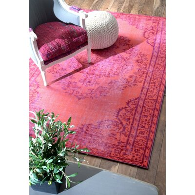 Nielsen Pink Area Rug Rug Size: Rectangle 28 x 8