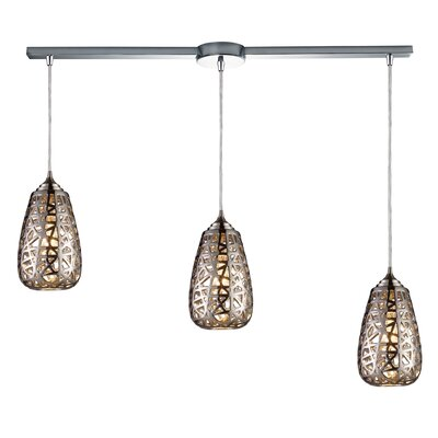 Freeda 3-Light Linear Pendant
