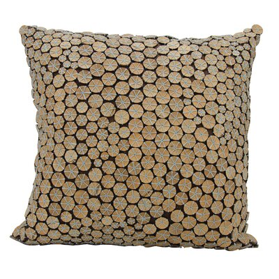 Anupam Button 100% Cotton Throw Pillow Color: Blue