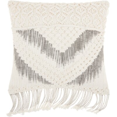 Dennet Square 100% Cotton Throw Pillow