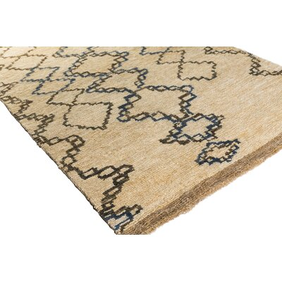Amsbry Hand-Knotted Brown Area Rug Rug Size: Rectangle 6 x 9