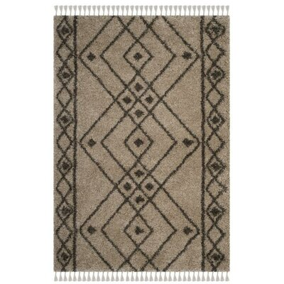 Ararat Mushroom/Gray Area Rug Rug Size: Rectangle 51 x 76
