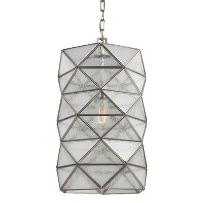 Rosalina 1-Light Pendant I Finish: Antique Brushed Nickel, Size: 14.63 H x 8 W x 8 D